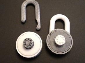 Simple combination lock