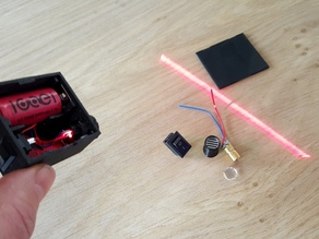 Laser line case with battery and switch
