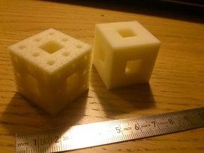 Menger sponge cube fractal