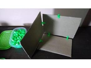 Cardboard construction pieces,