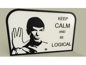 StarTrek - M Spock - Keep calm and be logical