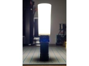 Flashlight diffuser for Emisar D4S E07 39mm bezel torch