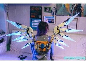 Overwatch Mercy Combat Medic wing cosplay