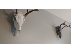 Low Poly Deer Skull