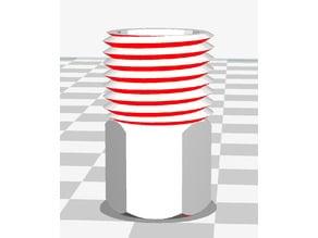 "9/16"" UNF cap for Inspiration CCR solenoid LP hose"