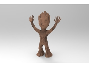 baby groot stand 2 arms up