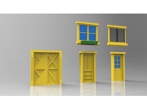 Scale Model Building Door and Windows Set.2