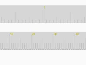 OpenSCAD Ruler (SAE & Metric)