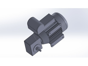 AC motor with reduction gearbox