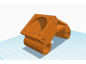 Super Simple ANET A6 E3D Carriage for Bowden *EASY PRINT*