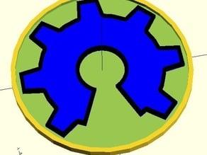 Open Hardware Logo - OpenSCAD Generator