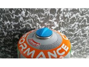 Butane-propane camping tank cap