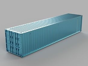 HO scale container 40ft (piko-compatible)