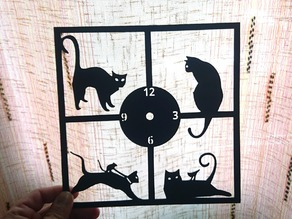 Reloj de pared gatos