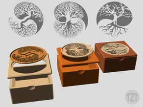 Yin Yang Tree of Life Inlay or Insert - Mix and Match