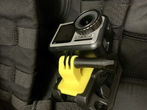 Compact action cam mount for Spider Holster SpiderLight backpack adapter