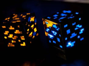 Minecraft Ore Lamp Cube Block - Red Stone / Diamond / Gold / ect.