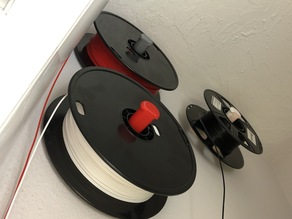 Simple Wall Mount Spool Holder for Stupid 30mm Filament Reel Holes (eg: AMZ3D)