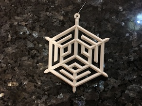 Art Deco Snowflake Ornament
