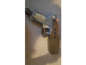 Nerf Bigshock barrel extension, pull handle, and spring spacer
