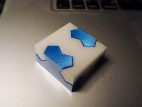 Kawai Tsugite Joint Puzzle (40mm size, larger tolerances)