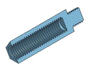 Hex Standoff M6x27 Pin M6x6, M6x27 Pin M8x10
