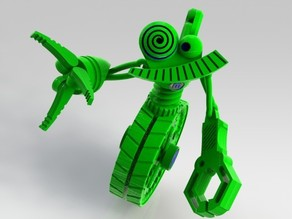 Wheelie B - MakerBot GrabCAD Challenge