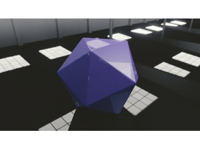 d20 Template - 20 Sided Dice - Icosahedron