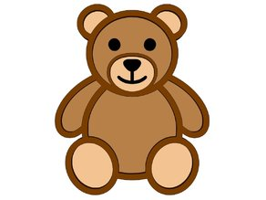 Teddy Bear Fridge Magnet