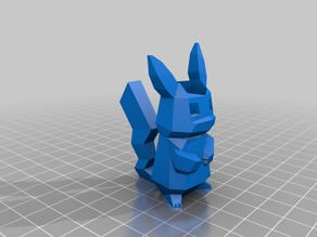 low poly pikachu pencil holder