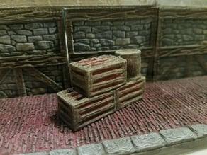 Threednd Crates and Barrel