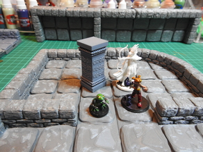 D&D scenery: Aztec Pillar with Snake Runes for Tomb of Annihilation