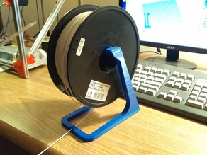 Streamlined Spool Holder with Filament Guide