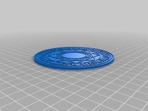Magic circle coasters of Lyrical Nanoha