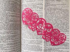Valentine's Day Hearts Bookmark