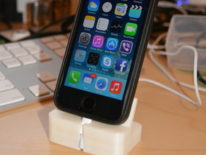Cased iPhone 5S dock