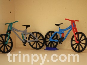 Downhill mountain bike with dual suspension