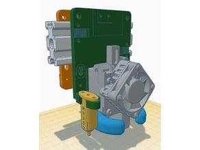 D-bot Print Carriage for E3D Titan Aero V6 + Ciicooler + BL Touch