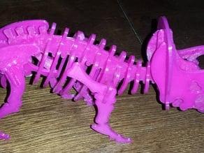 Triceratops puzzle skeleton
