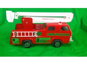 Tonka fire rescue unit 3 basket and short ladder