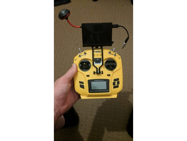 FPV/phone mount for Jumper T8SG V2 by sqij - Thingiverse
