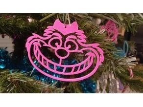 Christmas Ornament Cheshire's cat / Décoration de Noël Le Chat d'Alice