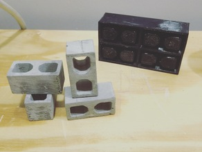 4 Miniature cinder block mold
