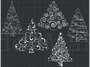 Christmas Trees! 2D Wall Art