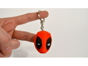 Deadpool Head Keychain