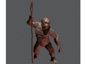CAESAR FROM PLANET OF THE APES INSPIRITED MODEL (LOW-POLY VERSION)