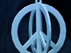 Peace Sign Tree Ornament