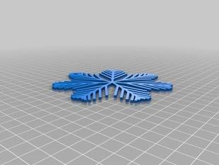 My Customized Parametric Snowflake Ornament