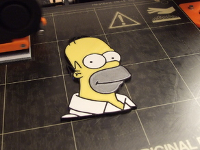 Homer Simpson head (multi-color)