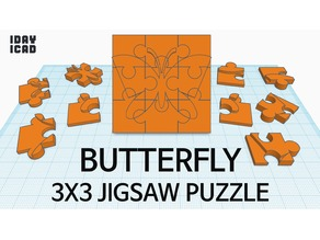 [1DAY_1CAD] 3X3 JIGSAW PUZZLE BUTTERFLY